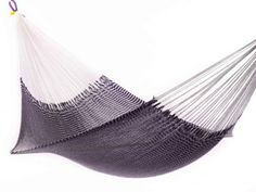 Vineyard Haven hammock from Yellow Leaf is handwoven using 3.2 miles of ultra-soft yarn.