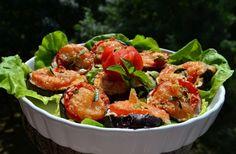 30 perces sajtos-paradicsomos padlizsán   femina.hu Salty Foods, Kung Pao Chicken, Vegetable Recipes, Mozzarella, Tapas, Shrimp, Paleo, Vegetables, Ethnic Recipes