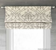 Lined Faux Fake Flat Roman Shade Valance; Ivory, Gray, Light Gold, Ecru, or Red - Premier Prints Barcelona; Windows, Flat Roman Shade, Diy Valance, Custom Curtains, Drapes Curtains, Curtains, Roman Blinds, Shades, Wide Windows