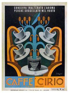 POSTER COFFEE ESPRESSO MACHINE INSTANT SERVICE ITALIAN VINTAGE REPRO FREE S//H