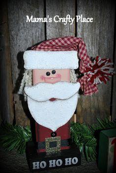 Mama's Crafts: 2x4 Santa Claus...
