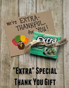 "Thanksgiving is a great time to spread some ""EXTRA"" thanks for your favorite clients!  #thanksgiving #thankyou #thankyougift"