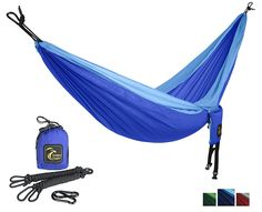 GOLDEN EAGLE Single Camping Hammock Set - Lightweight Parachute Portable Hammocks for Hiking, Travel, Beach, Yard, Gift - Bonus: included hanging set. PREMIUM QUALITY. * This is an Amazon Affiliate link. You can get more details by clicking on the image.