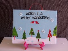 Winter Wonderland HOLIDAY/CHRISTMAS Home by crazydaisy12 on Etsy, $12.00