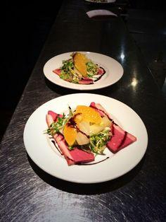 smoked duck breast, fennel  orange salad, citrus dressing