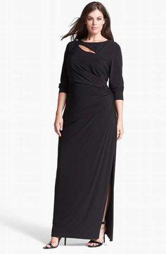 bcb92bd0ab Betsy   Adam Embellished Cutout Long Jersey Dress (Plus Size) Mob Dresses