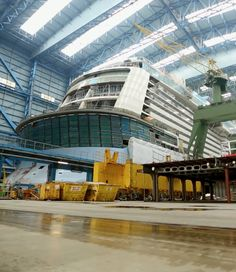 Quantum of the Seas takes shape in Papenburg, Germany.