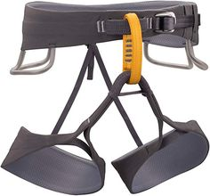 Black Diamond Solution Climbing Harness - Men's - Slate Large Lightweight waistbelt with Fusion Comfort Technology Countoured fit for superior comfort and range of motion Four pressure-molded gear loops Adjustable, releasable elastic risers Sport Climbing, Rock Climbing, Climbing Harness, Shoe Brands, Black Diamond, Selena, Brand New, Sports, Stuff To Buy