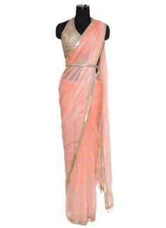 Shaded Coral Saree