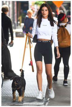 Sporty Outfits, Cute Summer Outfits, Fashion Outfits, Fashion Tips, Fashion 2020, Street Fashion, Emily Ratajkowski Street Style, Emrata Instagram, Kardashian Style