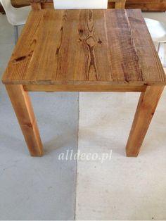 stolik kawowy ze starego drewna / table basse en vieux bois