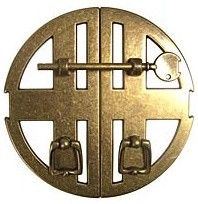 Bosetti - Marella Double Cabinet Pull Plate with Securing Key, Antique Brass - contemporary - pulls - Hardware Hut