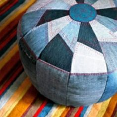 denim floor pillow