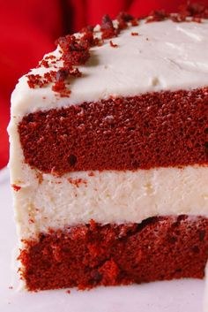 Our Red Velvet Cheesecake Cake Is Three Layers of Amazingness