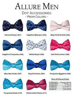 New Polka Dot bow ties & matching pocket square. Limited colors for rental. All colors available for purchase to match all major manufacturers. Tuxedo Wedding, Formal Wedding, Wedding Ideas, Grey Tuxedo, Tuxedo For Men, Men Formal, Formal Wear, Tuxedo Accessories, Polka Dot Bow Tie