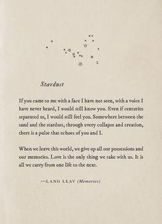 Stardust~Lang Leav