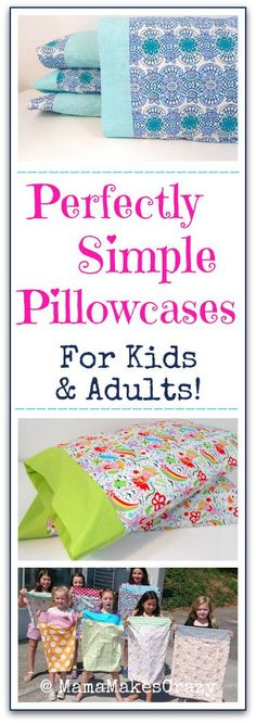 Perfect Pillowcases for Beginners! Sewing for kids | Sewing projects for beginners