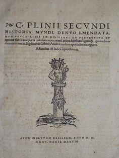 "P Incunable Pliny The Elder's ""Natural History"" Encyclopedia Historia Mundi 1535   eBay"