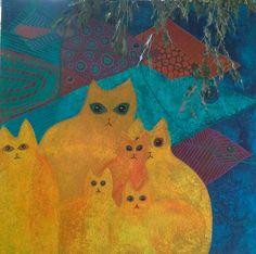 Acryl schilderij 100/100