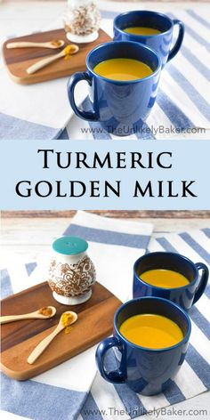 Turmeric is known as a wonder spice with a whole slew of health benefits and tur. Turmeric is known as a wonder spice with a whole slew of health benefits and turmeric golden milk is a delicious way to incorporate it in your diet. Turmeric Golden Milk, Turmeric Milk, Yummy Drinks, Healthy Drinks, Healthy Recipes, Healthy Nutrition, Healthy Eats, Healthy Milk, Diet Drinks