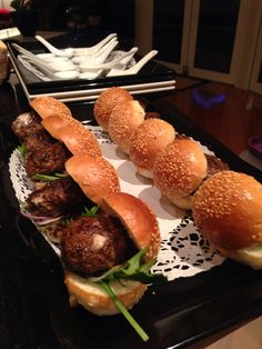 Blue cheese beef sliders - Concept catering Tas