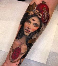 Neo Traditional forearm tattoo Dove Tattoos, Tribal Sleeve Tattoos, Tattoos Skull, Skull Tattoo Design, Dragon Tattoo Designs, Tribal Tattoo Designs, Celtic Tattoos, Tattoo Symbols, Tatoos