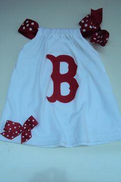 Baby Girls Toddler Girls Boston Red Sox Baseball by DaintyBoTeek, $24.00