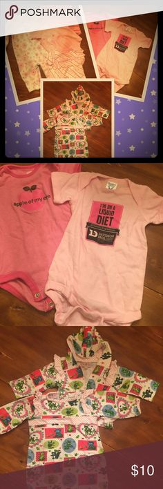 """✨Authentic baby girl LOT 6mos G2 Great lot💁🏼.  Authentic """"Jen Jen"""" wear jacket & one piece set,  Davidson Brothers brewery soft cotton onesie, and much more💁🏼 Matching Sets"""