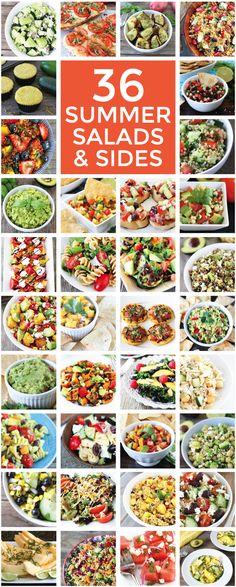 36 of the BEST Summer Salad and Side Recipes on twopeasandtheirpod.com Pin this one for later! You will want to make all of these recipes!