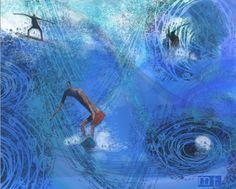 MartaToledo Ilustraciones: Apuntes de viaje Waves, Drawings, Painting, Outdoor, Voyage, Illustrations, Art, Outdoors, Painting Art