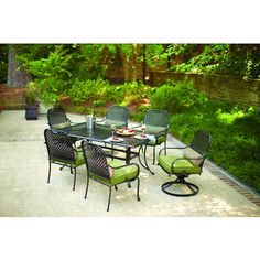 Solana Bay 7 Piece Patio Dining Set es with all swivel chairs
