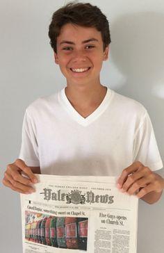 ELI GRISWOLD '17 ATTENDS THE YALE SUMMER JOURNALISM PROGRAM
