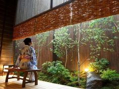 Japanese onsen(spa) ryokan(hotel). This is what they give you to wear during your stay
