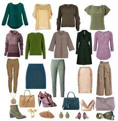 Гардероб цветотипа мягкая теплая осень. Палитра. Цветовые решения. Сочетания цветов. Одежда для женщин. Аксессуары