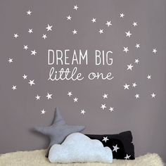Dream Big Little One Mini Wall Sticker