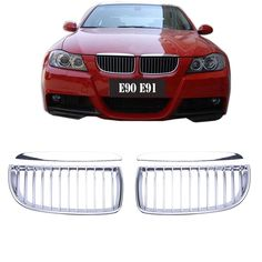 56.39$  Watch here - http://alifjg.shopchina.info/go.php?t=32559555838 - Brand New Chrome Hood Grills Front Grille For BMW E90 Model 320i 323i 328i 335i 05-08 + Box KOLERADER #9207 56.39$ #buyininternet