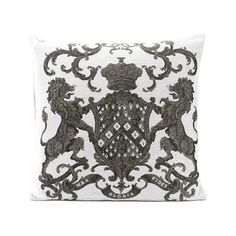 This white square cushion 55 x 55 cm is very comfortable. It is embroidered front / back of rampant lions, recalling coats of arms. Bring a chic touch to your interior with this original cushion of high quality. White Cushions, Velvet Cushions, Floor Cushions, Cushions Online, Textiles, Coat Of Arms, Lions, Objects, Indoor