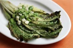 Grilled Romaine with Fava Beans and Pecorino | @Los Angeles Times