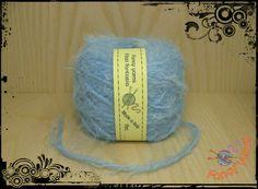 1 gomitolo 50 grammi, colore celeste filato moda di Fancy yarns su DaWanda.com