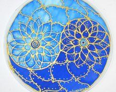 Regenbogen-Chakra Mandala Kunst spirituelle von HeavenOnEarthSilks