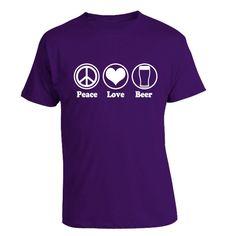 Peace Love Beer T-Shirt #craftbeer #giftideas