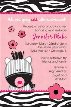 baby shower invitations printable | zebra para baby shower!!! YA PONGO INVITACION DE COMO KEDO!!!