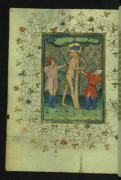 Book of Hours, St. Sebastian martyred, Walters Manuscript W.170, fol. 161v | von Walters Art Museum Illuminated Manuscripts