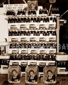 """Coca-Cola """"Menu Girl"""" Super Market Display 1953"""