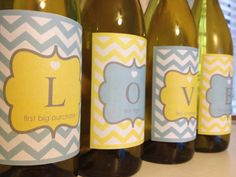 wine labels - wedding gift
