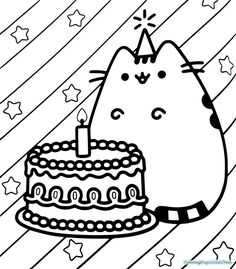 Kawaii Cat-Unicorn coloring page from Unicorn category