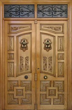 64 Super Ideas For Simple Double Door Design Wood Wooden Double Doors, Double Door Design, Pooja Room Door Design, Door Gate Design, Wooden Front Doors, Wooden Door Design