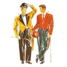 Mens Tuxedo Suit Fancy Dress Costume Pattern Burda 4677 S M L Burda Patterns, Costume Patterns, Print Patterns, Mens Tuxedo Jacket, Mens Tuxedo Suits, Vintage Costumes, Fancy Dress, My Etsy Shop, Leather Jacket