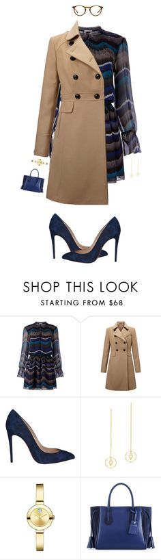 """""""I Don't Mind #4"""" by psannahia ❤ liked on Polyvore featuring Diane Von Furstenberg, Miss Selfridge, Christian Louboutin, Edge of Ember, Movado, Longchamp and Oliver Peoples"""