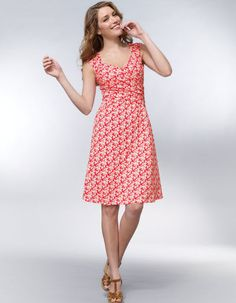Cross Front Gathered Dress